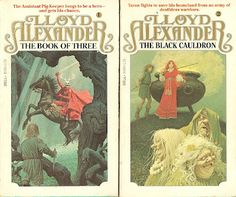 """Lloyd Alexander's """"Prydain Chronicles"""" were a HUGE part of my formative years, and the amazing cover art by Jean-Leon Huens was an integral part of the experience."""