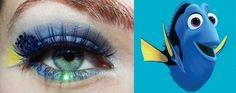 Dori (from Nemo) inspired look Arabic Eyes, Makeup Themes, Eye Makeup, Hair Makeup, Disney Makeup, Running Costumes, Disney Bound Outfits, Run Disney, Girly Things