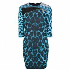 Versace Versus VERSUS Leopard Print Safety Pin Dress on shopstyle.co.uk