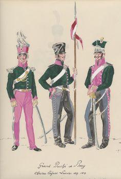 Grand Duchy of Berg lancers 1812 Empire, German Uniforms, Napoleonic Wars, Modern Warfare, American Civil War, Diorama, Austria, French, Board