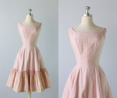 Vintage 1950s Dress / 50s Dress  / Pink by TheVintageMistress, $118.00