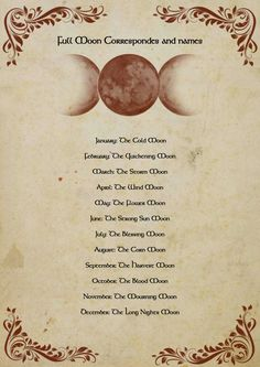 Book of shadows Full moon correspondes PDF by OnyxKeys on Etsy