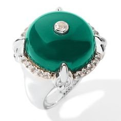 Rarities: Fine Jewelry with Carol Brodie .33ct Agate and White Topaz Ring at HSN.com.