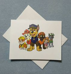 Paw Patrol Note Cards Thank You Cards by LabelsandStickers on Etsy