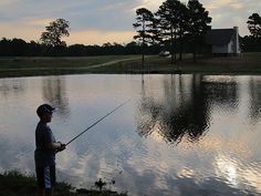 a boy, a fishing rod, and a home...