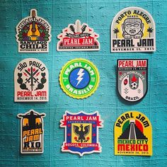 Which 2015 Latin America Tour sticker is your favorite? Photo by: @juliovf8. #PJLatinAmerica2015 #PearlJam