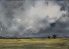 Watercolor - Before The Storm. An atmospheric scene from the imagination of Jean Lurssen.