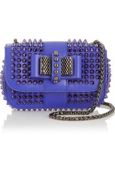 Sweety Charity mini spiked leather shoulder bag #shoulderbag #women #covetme #christianlouboutin