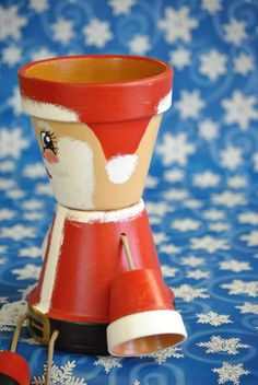 Santa flower pot people by crazycraftingfriends on Etsy