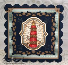 card using Oceanside Medallions - designed by Sharon Harnist
