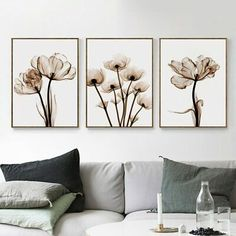 Wall Art Canvas Painting Elegant Poetry Modern Transparent Flower Print Poster Picture Home Decoration Simple Wall Decor Poster Pictures, Canvas Pictures, Forest Poster, Home Decor Wall Art, Room Decor, Home Decoration, Transparent Flowers, Mosaic Diy, Cross Paintings