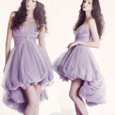 2017 Purple Sweetheart Sexy party dresses High Low Cocktail Dresses New Arrival Mini Formal Party Gown Vestido De Festa Curto