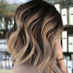 20 Balayage Ombre Short Haircuts , Who does not like balayage ombre short haircuts? Here are some ideas about it. Here are 20 Balayage Ombre Short Haircuts. Balayage hair is one of many. Carmel Blonde Hair Color, Blonde Highlights On Dark Hair Short, Dark Brown To Blonde Balayage, Ombre On Dark Hair, Medium Brown Hair With Highlights, Ombre Bob Hair, Diy Ombre Hair, Brown Hair On Top Blonde On Bottom, Ombre Dark Brown