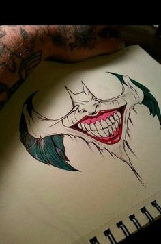 batman x joker Joker Drawings, Pencil Art Drawings, Cool Drawings, Tattoo Drawings, Drawing Sketches, Batman Drawing, Joker Sketch, Tattoo Sketches, Joker Kunst