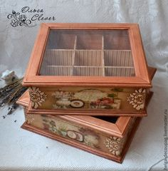 Discover thousands of images about Vintage decoupage box Hobbies And Crafts, Diy And Crafts, Shabby Boxes, Altered Cigar Boxes, Decoupage Vintage, Tea Box, Antique Paint, Little Boxes, Wooden Crafts