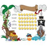 Free Pirate Potty Chart - Collect the Coins