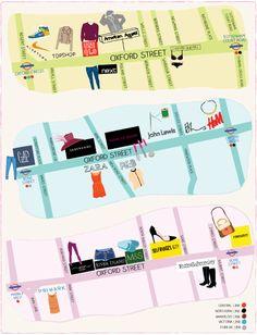 http://timeoutcdn.s3.amazonaws.com/bestshopping/oxfordstreet_fullpage.pdf Main shops in Oxford Street Main station: 'Oxford Circus'
