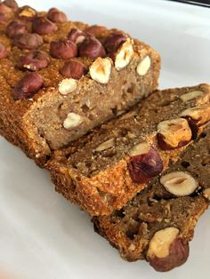 Budín integral de peras, banana y avellanas Sweet Recipes, Real Food Recipes, Cake Recipes, Healthy Desserts, Delicious Desserts, Yummy Food, Tortas Light, Bolo Fit, Cuisine Diverse