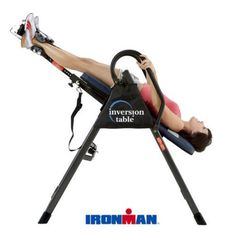 Inversion Table Relax Pain and Flexibility Iroman Excersice Muscle Recovery #Unbranded