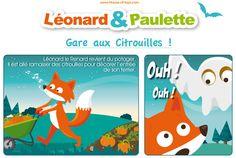 """Retrouvez Léonard et Paulette dans leur deuxième aventure : """"Gare aux citrouilles"""". Histoire téléchargeable sur le blog House of Toys."""