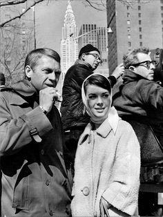 Natalie Wood & Steve McQueen on set of Love With The Proper Stranger,1963