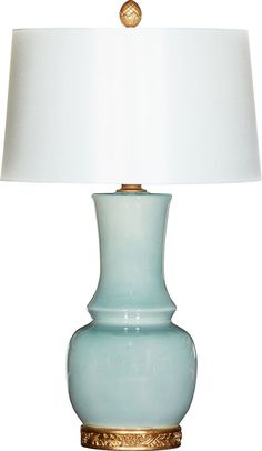 Londyn Ocean Blue Table Lamp with Shade