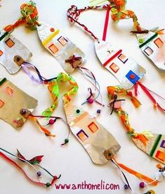 Ideas for easy Christmas constructions along with .- Anthomeli: Ideas for easy Christmas constructions with kids - Simple Christmas, Winter Christmas, Christmas Holidays, Christmas Crafts, Xmas, Christmas Ornaments, Merry Christmas, Art For Kids, Crafts For Kids