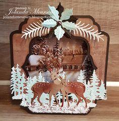 Handmade Creations by Jolanda Meursen: Tent Card Christmas Cards 2017, Christmas Wrapping, Xmas Cards, Handmade Christmas, Vintage Christmas, Christmas Decorations, Fun Fold Cards, Folded Cards, Tent Cards