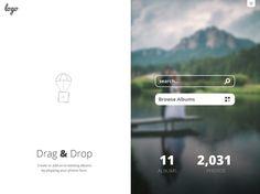 Drag/Drop Photos #iPhoneapp concept #design