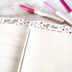 Bullet Journal Monthly Trackers, self love tracker, Bullet Journal gratitude tracker, inspiration