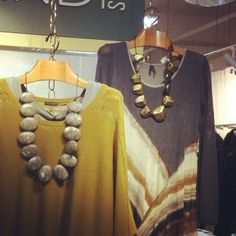 Easy chic! - the secret to statement necklaces #fashion #familybusiness #sylca #necklace #grey #bohochic
