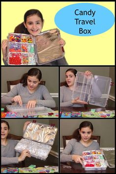 How to make a candy travel box.  How to make a candy survivor box.  How to make a candy survival box.  #candycrafts