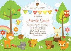 Woodlands Baby Shower Invitation / Woodland Invite made by Zazzle Invitations $2.05 ea