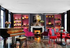 The old piano totally sets the mood in this space. :)