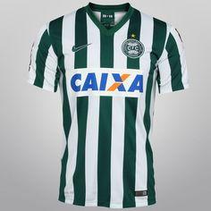 Camisa Nike Coritiba Jogadeira 14/15 s/nº c/ Patrocínio - Verde+Branco