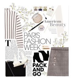 """""""Paris Fashion Week"""" by twiluv18 ❤ liked on Polyvore featuring OKA, Maje, Smith & Cult, Accessorize, Cosabella, Clarins, Kate Spade, IRO, Too Faced Cosmetics and parisfashionweek"""