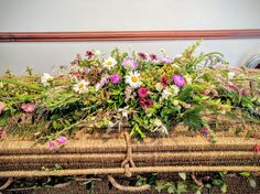 Locally grown seasonal flowers & natural bouquets delivered in Worcestershire. Florist for natural weddings & funerals, Worcester. Use British flowers & Herbs Casket Flowers, Funeral Flowers, Wedding Flowers, Rustic Flowers, Wild Flowers, Green Funeral, Natural Bouquet, Funeral Sprays, Casket Sprays