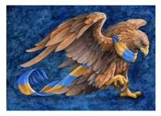 """Ravenclaw Eagle"" by Sushi Studios, print - discontinued, no longer available in her shop Hp Harry Potter, Harry Potter Images, Harry Potter Aesthetic, Ravenclaw, Eagle Drawing, Horror Monsters, Harry Potter Wallpaper, Aesthetic Drawing, Science Fiction Art"