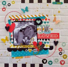 #papercraft #scrapbook #layout Simple Stories I AM Loved Layout