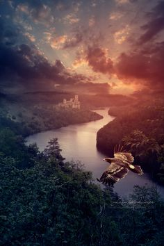~~The River Keep by kuschelirmel~~ Scenic Photography, Outdoor Photography, Landscape Photography, Fantasy Landscape, Forest Landscape, Cool Photos, Beautiful Pictures, Photo Manipulation, Computer Art