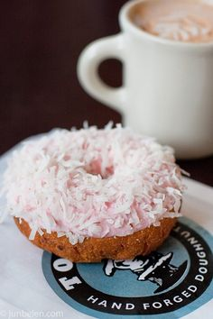 I love that my Seattle posts are food oriented...oh well. How can you resist that donut? Eesh.