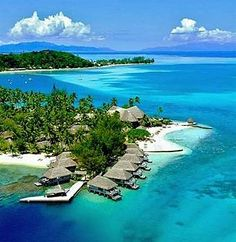 Hotel Bora Bora, Bora Bora, Tahiti. I got to stay at this magnificent place when I traveled to Tahiti. Bora Bora is the most beautiful place in the world (so far)!!!