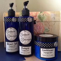 SHAMPOO, CONDITIONER & SHOWER GEL COMBO 500ML - THE BUBBLES BOUTIQUE *SALE!!* #TheBubblesBoutiqueHandMadeProducts
