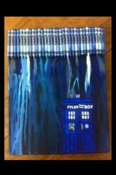 Doctor Who crayon art