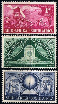 South Africa 1949 Voortrekker Monument Set Fine Mint SG 131 3 Scott 112 4 Other South African Stamps HERE