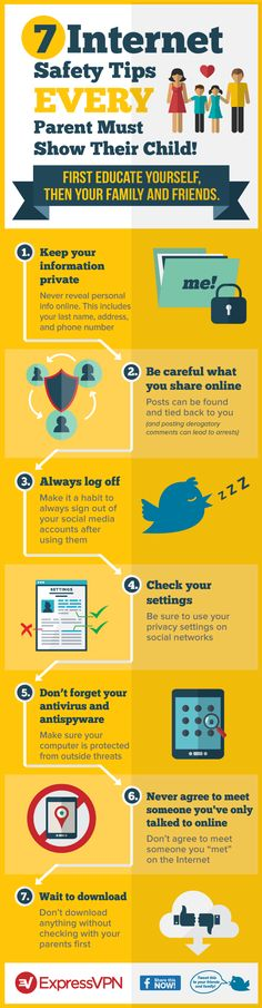 7 #Internet Safety Tips Every Parent Must Show Their Child! [infographic]