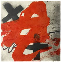 Antoni Tapies A. T. 1985 etching with aquatint