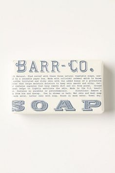 My favorite soap ever is from barr-co. Absolutely will go crazy and stock up my bathroom with it. Can't get over how amazing it smells.