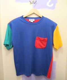 03f61363ba9385 Vintage Tees, Vintage Sport, Primary Colors, Tshirt Colors, Color Blocking,  Fashion