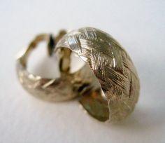 Vintage 80s Preppy Nautical Gold Tone Hoop Earrings by ThePaisleyUnicorn, $3.00